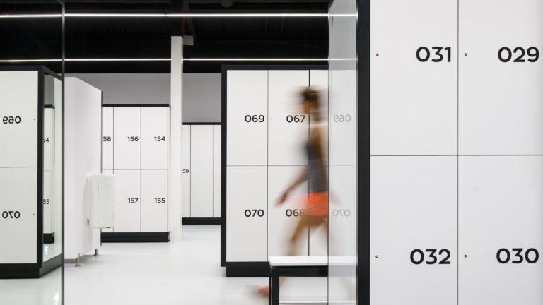 Casiers pour les vestiaires du club de fitness